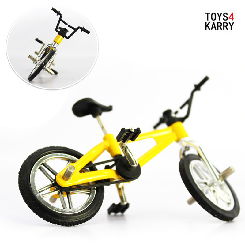 Finger Board Bicycle Toy With Brake Rope Simulation Alloy Mountain Bike Mini Size Gift Toys For Children Kids Develop Interest