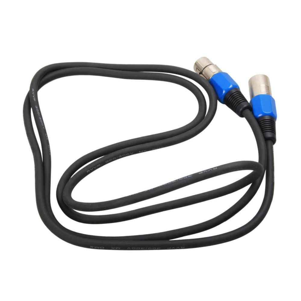 AUCD 1 метр 3.3ft 3 контакта сигнальное соединение DMX Кабельная линия для Аксессуары для освещения сцены DJ движущийся провод