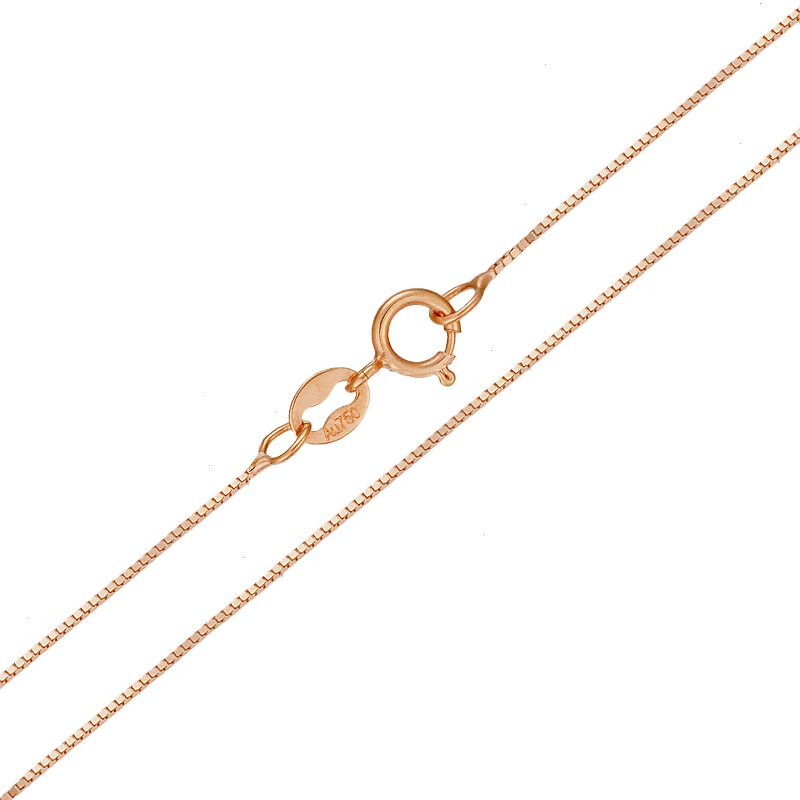 Image 2 - 18k Pure Gold Necklace Rose White Yellow Genuine Women Fine Simple Slim Thin Chains Hot Sale Matched For Any Pendant trendy new-in Necklaces from Jewelry & Accessories