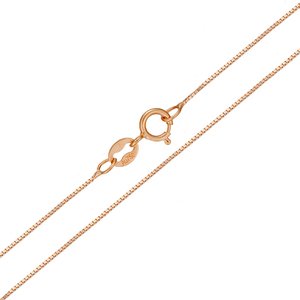 Image 2 - 18k Pure Gold Necklace Rose White Yellow Genuine Women Fine Simple Slim Thin Chains Hot Sale Matched For Any Pendant trendy new