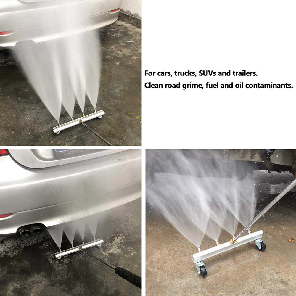Pressure Washer Water Broom Replacement Driveway Cleaner Sweeper 4000PSI 13 Inch
