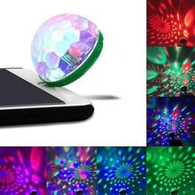 USB Mini LED RGB Disco Stage Light Party Club DJ KTV Xmas Magic Phone Ball Lamp Cell Phone Adapter Accessories(China)