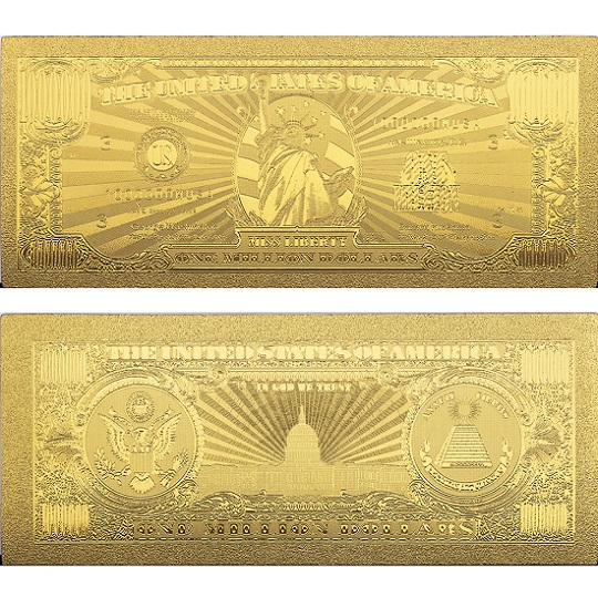 Colorful US Gold Foil Banknote America Fake Banknotes 100 Dollar Banknotes Money Collection for Home Decoration Gift image