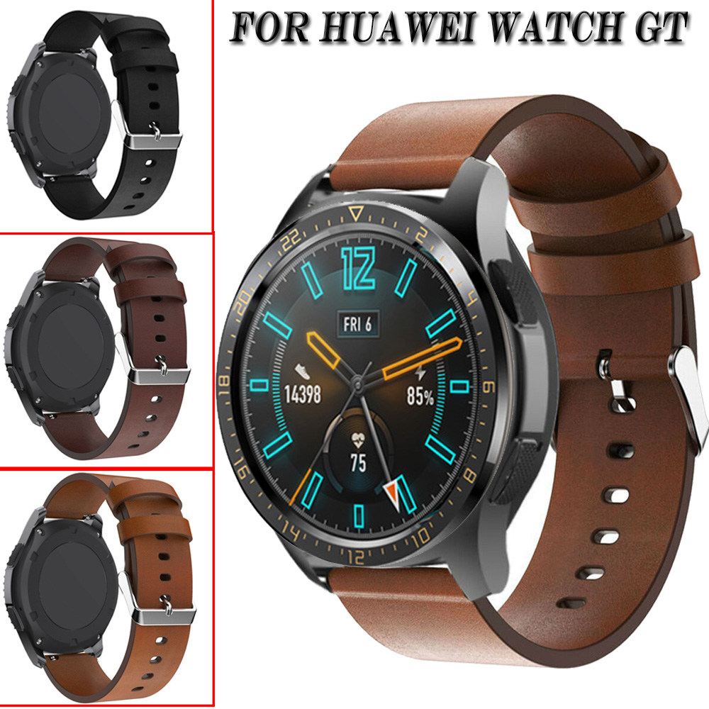 Genuine Leather Band Strap For HUAWEI WATCH GT GT2 Watch Replacement Bracelet Strap Watchband For Galaxy Watch 46mm Gear S3
