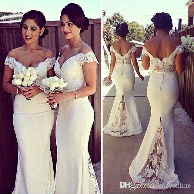 Online Buy Wholesale white bridesmaid dresses beach wedding from ...