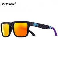 Sport Polarisierte Sonnenbrille Männer Marke Designer Sonnenbrille Mirrored UV400 Sonnenbrille Frauen Mit Alle-zweck Box KDEAM CE