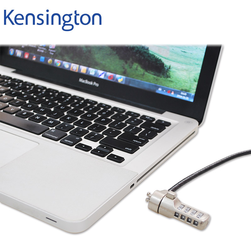 Kensington Premium Anti-theft Keyed Password Portable Combination <font><b>Laptop</b></font> <font><b>Lock</b></font> with 1.8m Security <font><b>Cable</b></font> Chain image