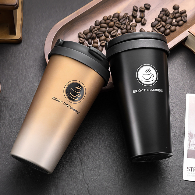 500ML Thermos Mug Coffee Cup with Lid, Double Wall