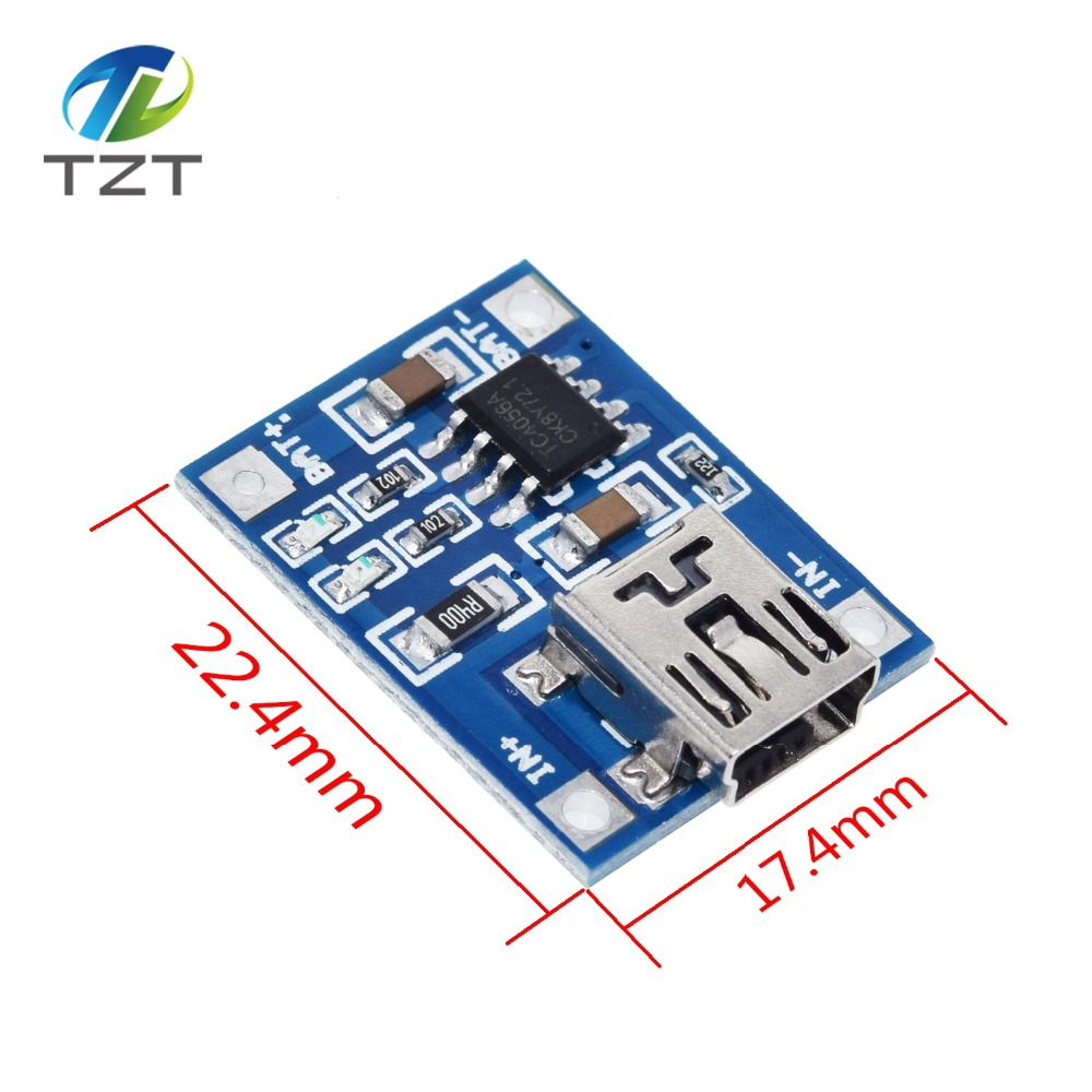 Image 5 - 10Pcs Micro USB 5V 1A 18650 TP4056 Lithium Battery Charger Module Charging Board With Protection Dual Functions 1A Li ion-in Integrated Circuits from Electronic Components & Supplies