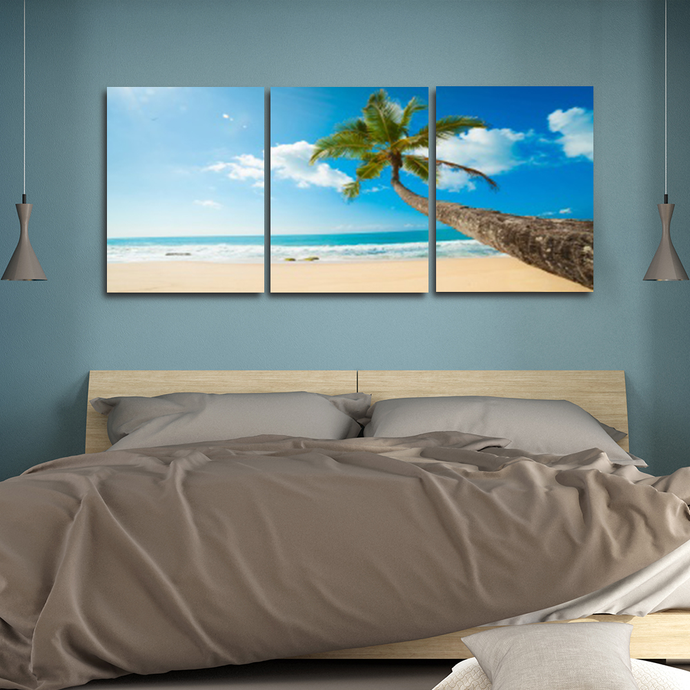 Laeacco Nordic Tropical Palm Tree Posters and Prints Abstract Paint On Canvas Painting Living Room Home Decor Wall Art in Painting Calligraphy from Home Garden