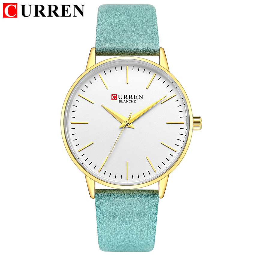 CURREN Fashion Woman Watch 2019 Brand Luxury Gold Wrist Watches For Women Thin Green Small Dial Women's Watch Waterproof Sport(China)