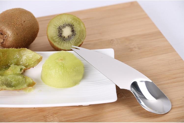 Kiwi Cutter Peeler Slicer Fruit Dig Tool Thicken 304 Stainless Steel Gadgets/'