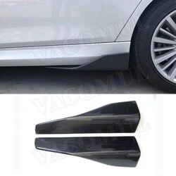 Uniwersalny Carbon Fiber stopnie boczne fartuch rozgałęźniki klapy Winglets dla BMW E87 E90 E92 E93 F80 F82 F83 M4 F10 M5 G30 wszystkie samochody