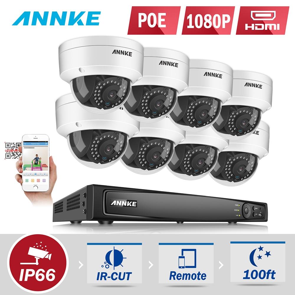 все цены на ANNKE 8CH 1080P POE Security Camera System With 8pcs 2.0Mega-Pixels HD Security Network Camera онлайн
