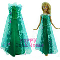 "Princess Ice Queen Dress Fairy Tale Gown Copy Elsa Let It Go Clothes Outfit For Barbie Doll Kurhn 11.5"" 12"" Play House Gift"