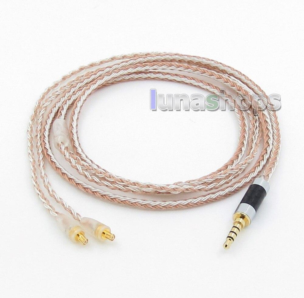 Earphone Accessories Inventive 3.5mm 4pole Trrs Re-zero Balanced 16 Core Occ Silver Mixed Earphone Cable For Audio Technic Cks1100 E40 E50 E70