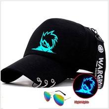 Anime naruto luminosa gorra de béisbol Uzumaki Naruto Sharingan Kakashi  gorra chicos estudiante sombreros 72f5541a962