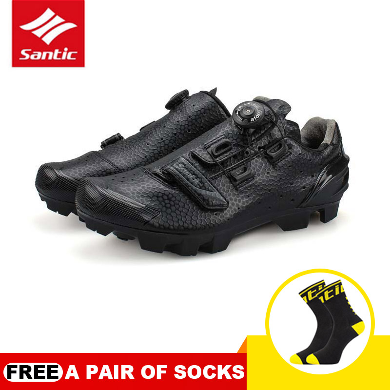 Men Breathable Self-locking Mountain Cycling Shoes Bicycle Shoes Non-slip Bike Sport Shoes Zapatillas Sapatilha Ciclismo SANTIC racmmer cycling gloves guantes ciclismo non slip breathable mens