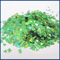 Wholesale Price 500g Green Holographic Triangle Glitter Laser Sequins for Nail Art Decorations Manicure Salon DIY
