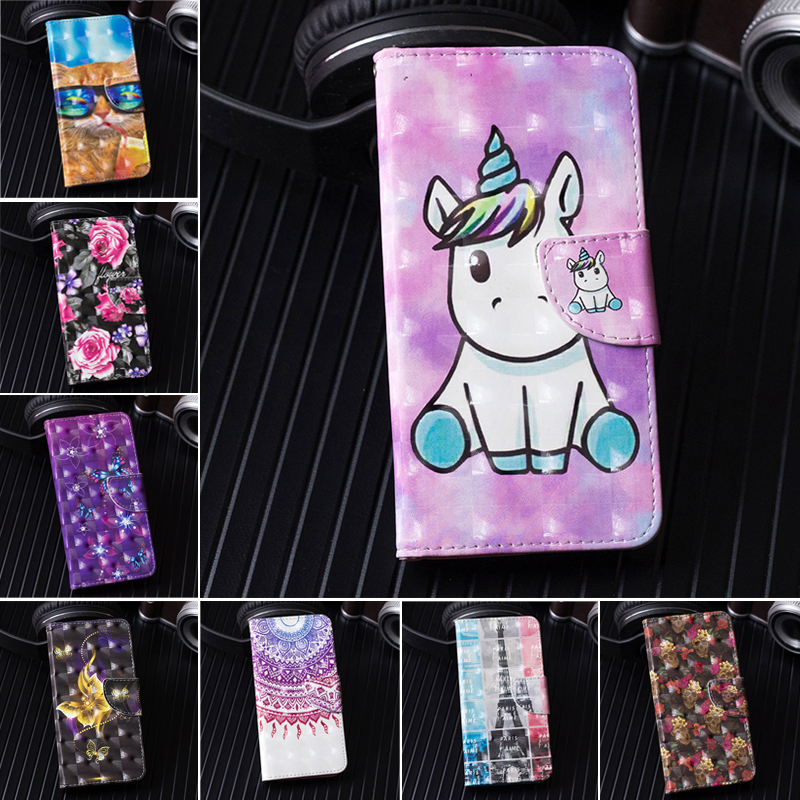 For Samsung Galaxy J5 2017  J5 Pro  J530F Case Luxury Unicorn Cat Wallet Flip Phone Bag For Cover Samsung J5 2017 J530F Cases