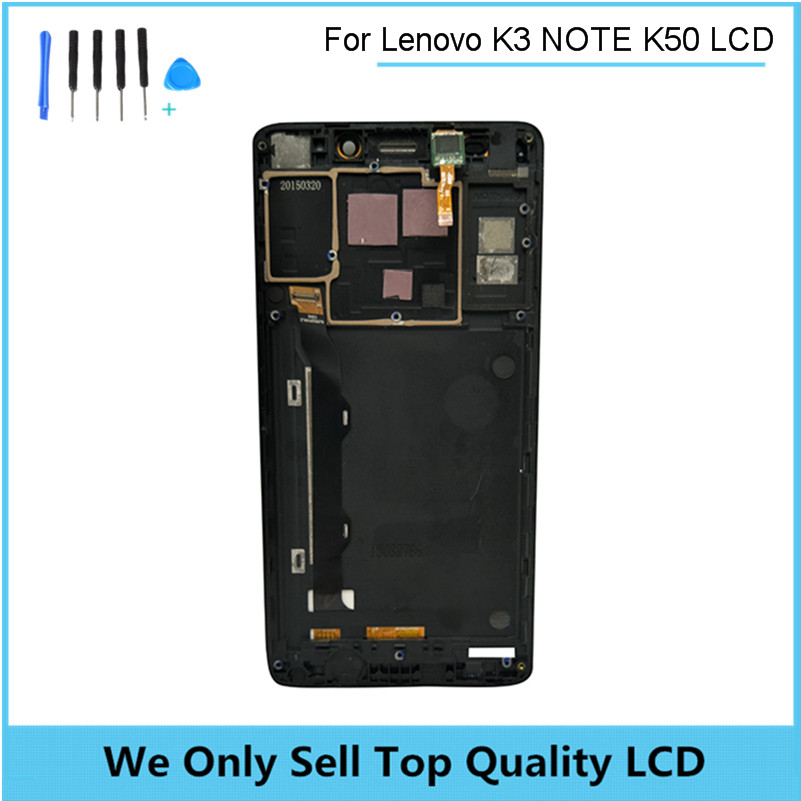 LCD Display For Lenovo K3 Note K50-T5 Touch Screen Digitizer Assembly withFrame For Lenovo K3 Note Replacement Parts + Tools