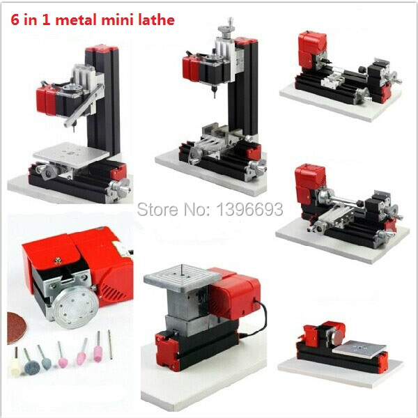 DIY mini metal lathe machine,metal milling tooling metal mini lathe,For Soft Metal like aluminum and copper. big power mini metal lathe machine tz20002m best gift for children and students