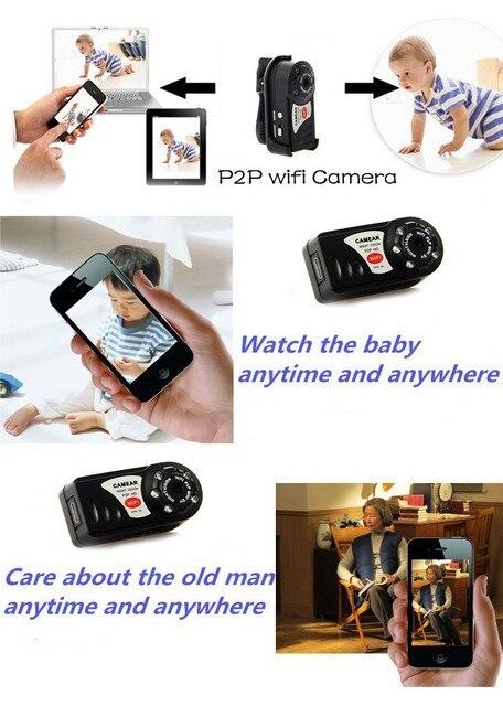 Мини Q7 Камеры 480 P Wifi DV DVR Беспроводная Ip-камера Новый Espia Video Видеокамеры Рекордер Инфракрасного Ночного Видения Секрет безопасности