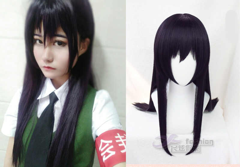 Tokyo Anime agrume Aihara Mei cosplay perruque Aihara Mei cheveux violet foncé cosplay perruque costumes