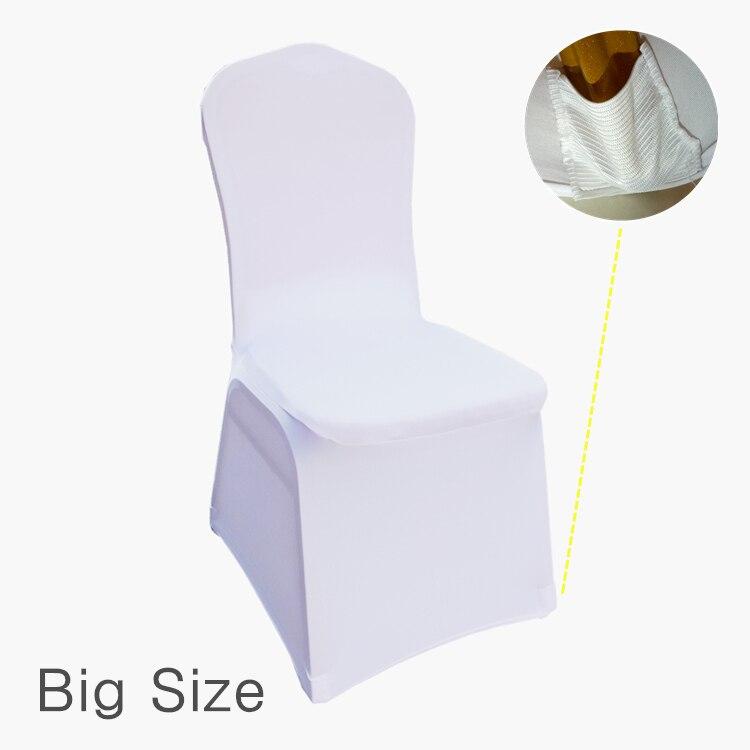 Gran tamaño 50 60 65 70 75 80 100 piezas blanco Universal elástico poliéster boda fiesta Spandex silla cubiertas-in Cubiertas de sillas from Hogar y Mascotas    1