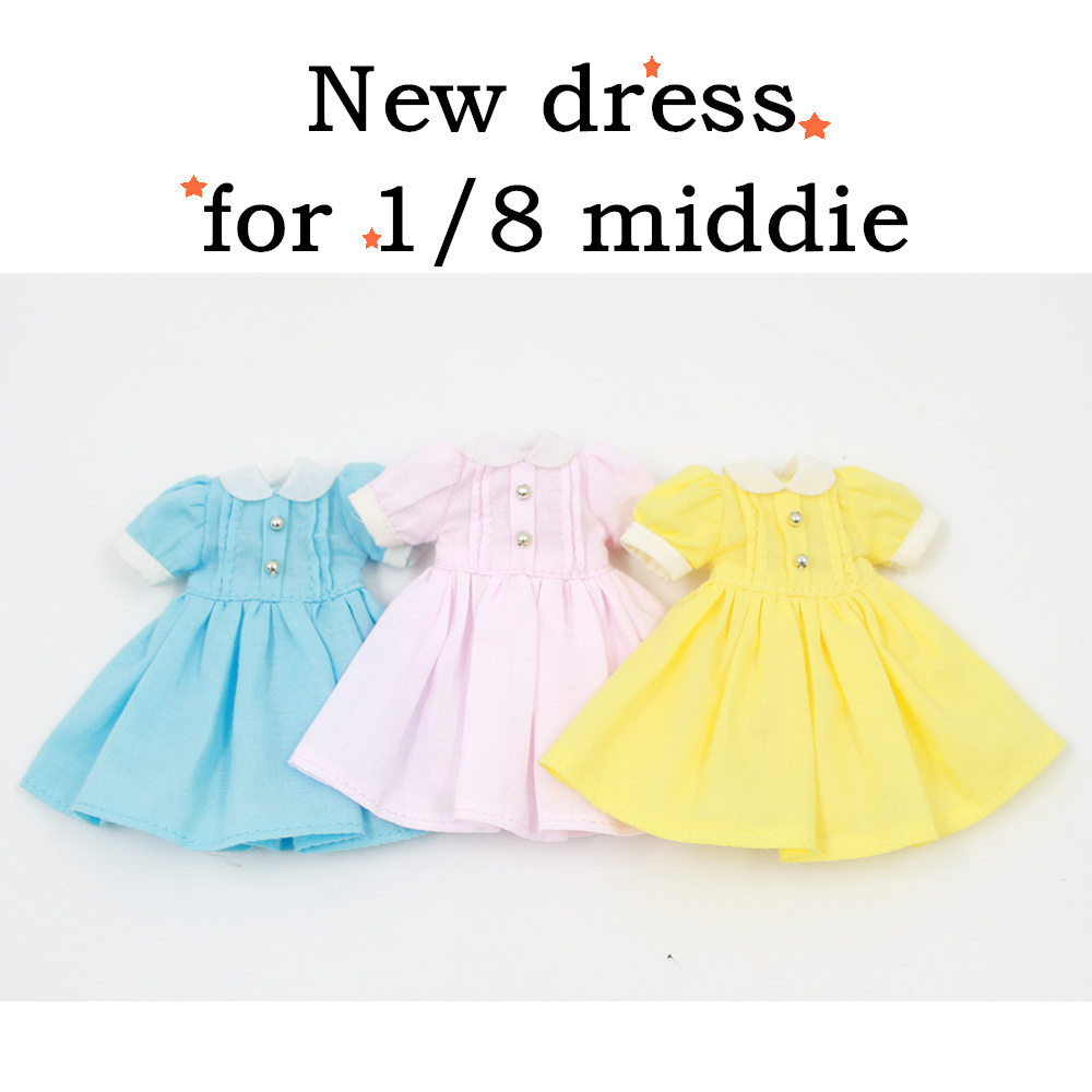 free shipping forturn days middie blyth doll pink blue yellow dress outfit clothes cute 1/8 gift toy yellow days montreal