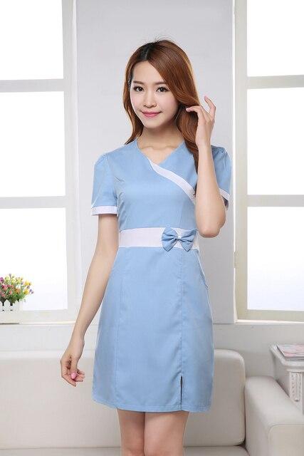 New blue Nurse Uniforms Medical Uniforms nurse dress Gowns Fashion ...