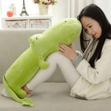 цены на 75/120 Cm Hippo Plush Toy Stuffed Animal Smiling Big Hippo Cotton Pillow Cushion Plush Toy For Children Climbing Pratice  в интернет-магазинах
