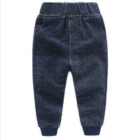 RICHM 2018 2 8Y Spring and Autumn Casual Baby Boys Pants Pure Cotton Solid Color Children Clothing KidsTrousers Boy's Trouser