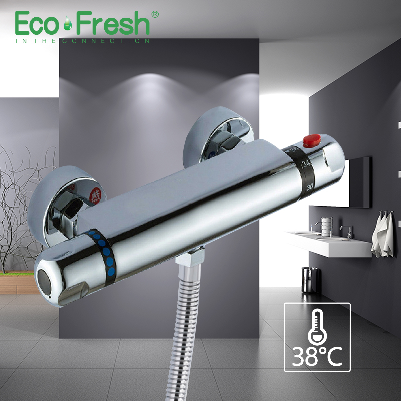 Ecofresh Thermostatic Mixer Shower Faucets Bathroom Faucet Thermostatic Mixing Valve Shower Set Thermostatic Shower Faucet bathroom thermostatic shower faucet mixer water tap brass shower faucet thermostatic mixing valve wall mounted shower faucets
