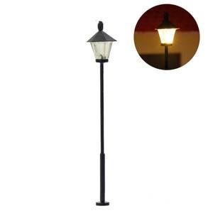 10pcs Model Railway Led Lamppost Lamps Street Lights N Scale 4.5cm 12V New LYM09 model outdoor lamp yard light leds