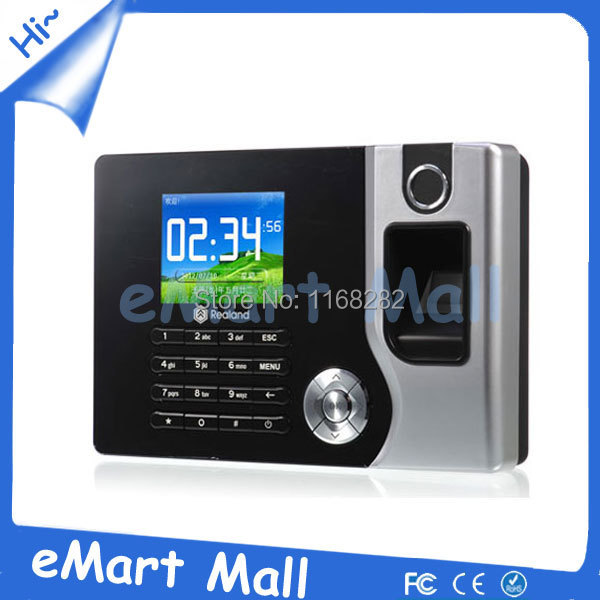 ФОТО Biometric fingerprint terminal time attendance 2.4 inch Color TFT screen Realand A-C071