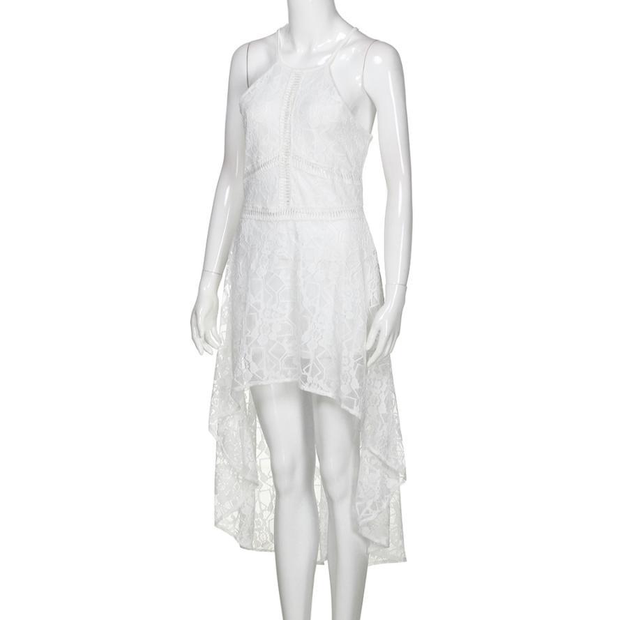 5bee09cb72ea5 Dress Womens Sleeveless Formal Prom Lace Sundress For Girls Beach ...