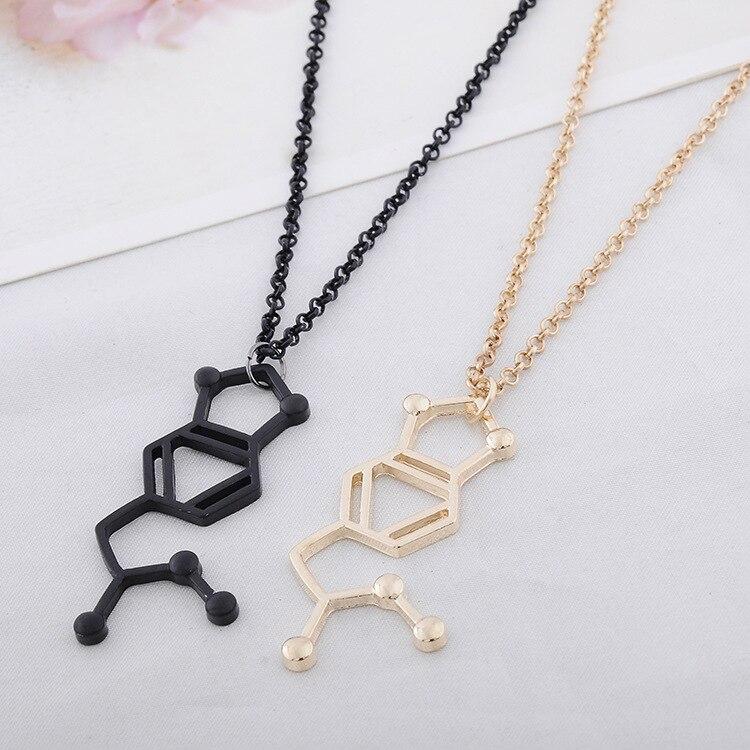 Dopamine Molecule Necklace: ᐂSerotonin Molecules, Happy ༼ ộ_ộ ༽ Hormone Hormone