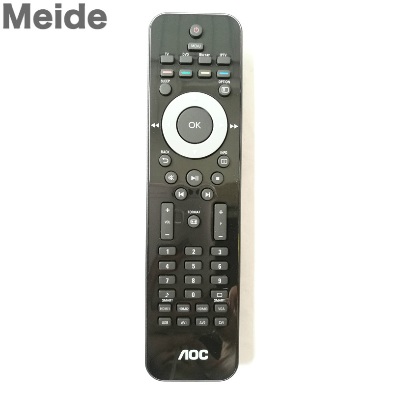 2PCS/ LOT New Original Remote Control For AOC TV /DVD /BLU-RAY/ IPTV Free Shipping