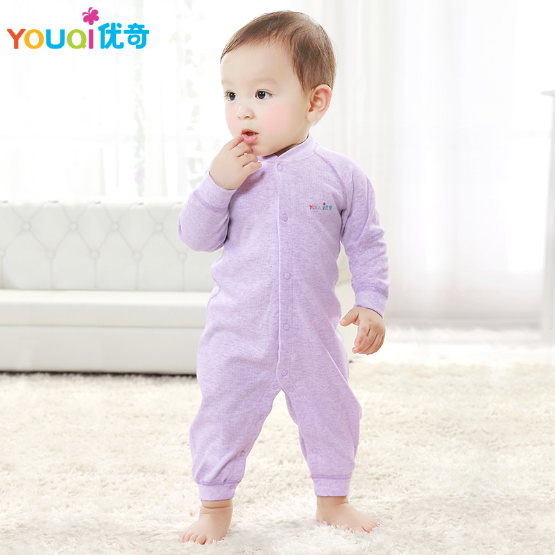 YOUQI Colored Cotton Baby Rompers Baby Boy Clothes 3 6