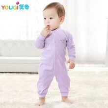 c8d72e329 Youqi bebé de algodón de color Mamelucos Bebé Ropa 3 6 meses otoño niño  infantil jumpsuit