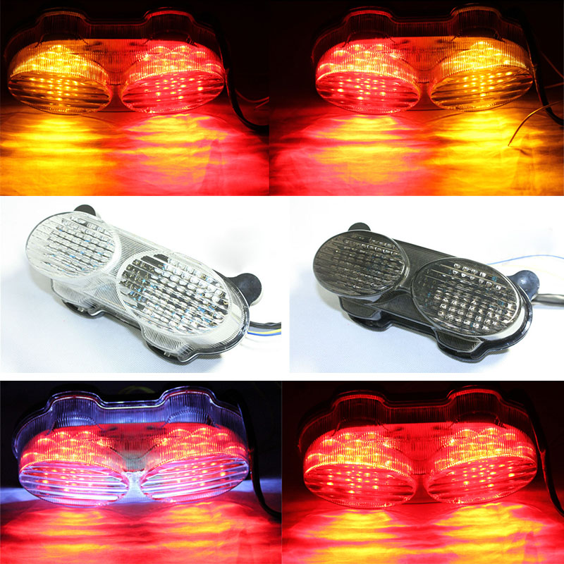 For Kawasaki 2002 2003 ZR7S 1998-2002 ZX6R ZX9R ZZR600 ZX900 LED Tail Brake Light Rear Turn Signals Indicator Integrated motorcycle handlebars clip on for kawasaki zx6r 600cc zx9r 900cc 1998 2002 page 2