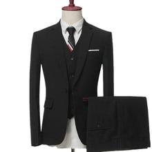 mens business casual suits sets / Men three-piece male vest+Blazers+pants PLUS SIZE suit coat jacket trousers waistcoat