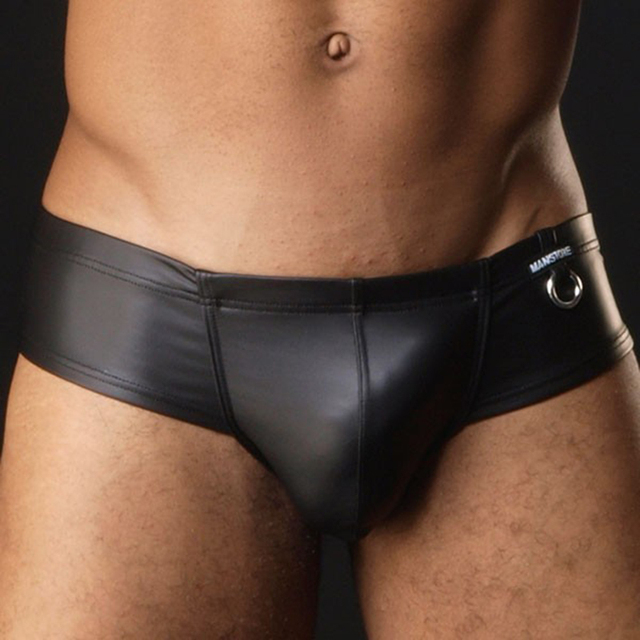 Faux Leather Men's Underwear