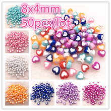 50pcs 8x4mm Love Acrylic Bead Loose Spacer Beads For Jewelry Making DIY Bracelet Accessories