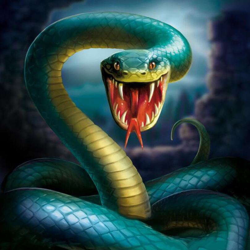 Ferocious Snake Picture DIY Diamond Painting Cartoon