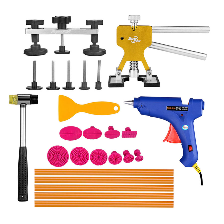 ФОТО PDR Tools Dent Removal Paintless Dent Repair Tools Dent Puller Kit Dent Lifter Puller Tabs Pulling Bridge Herramentas