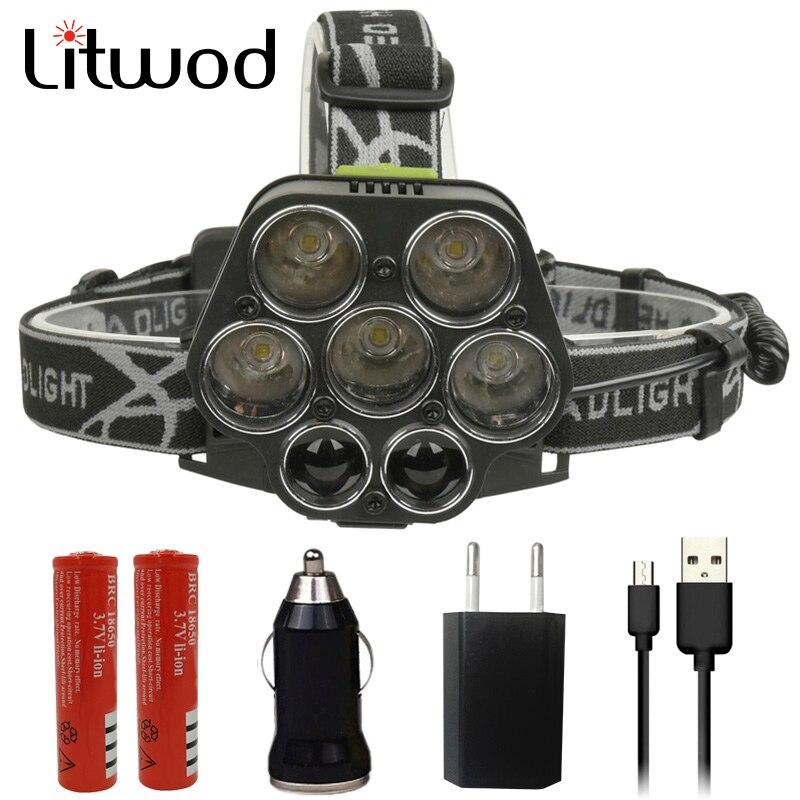Litwod Z202309A Led tête lampe Corps led projecteur phare dur lumière haute puissance puissant led tête lampe de poche torche