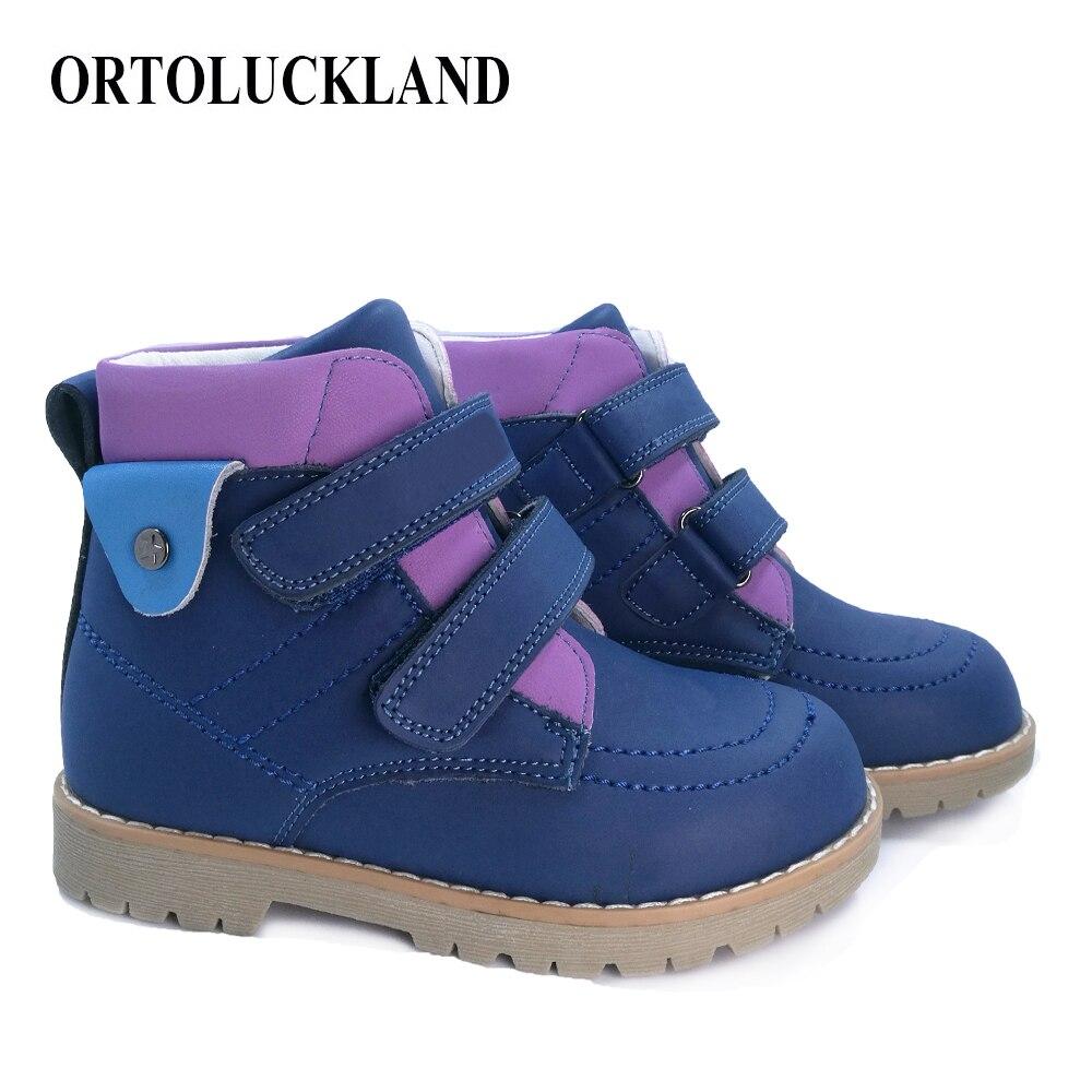 Automne hiver garçons filles baskets enfants chaussures orthopédiques enfant garçons filles Martin bottes à la main en cuir bottes enfant en bas âge chaussures enfants