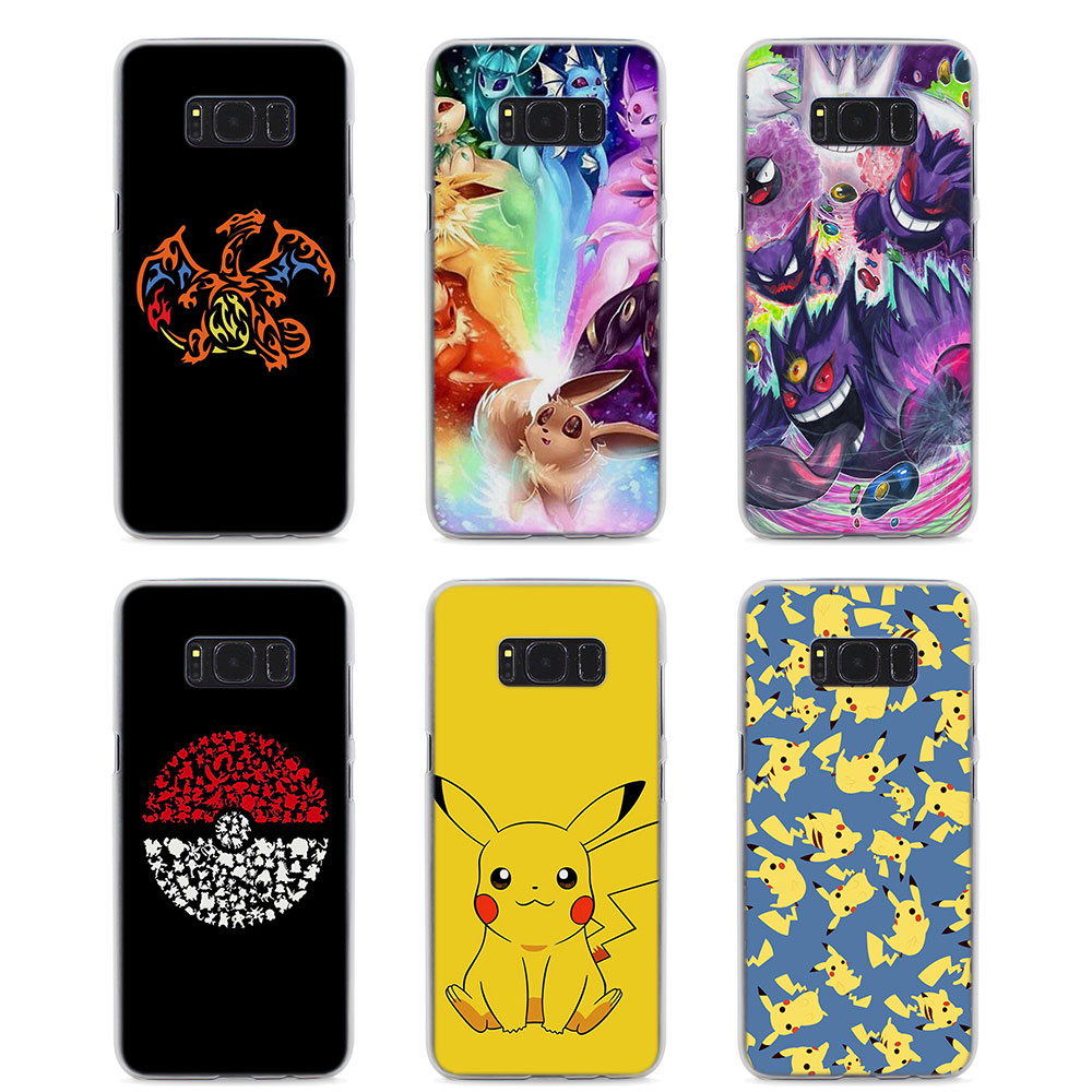 mougol-cartoon-font-b-pokemons-b-font-eevee-pika-style-hard-clear-phone-case-for-samsung-s9-s9plus-s8-s8plus-s6-s7-edge-s5-note8-5-4